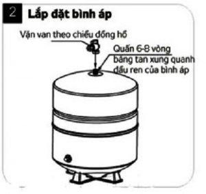 Lắp bình chứa máy lọc nước