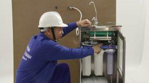 Lắp vòi nước trong máy lọc nước kangaroo