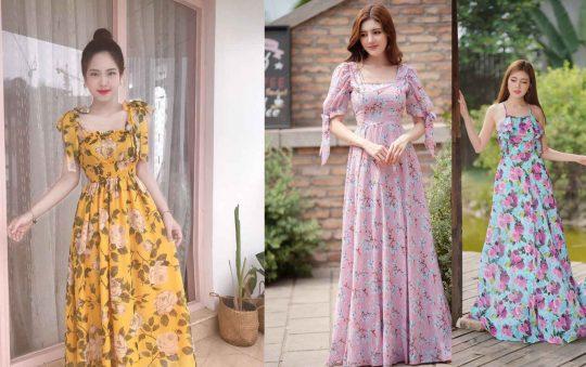 99 mẫu váy đầm maxi đẹp đi biển cho chị em tha hồ tự sướng sống ảo