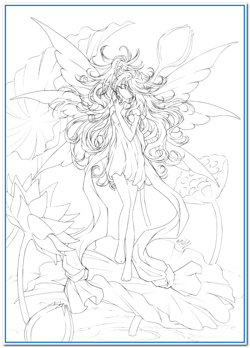 Fairy Coloring Pages Prettier Anime Coloring Pages For Adults Bestofcoloring