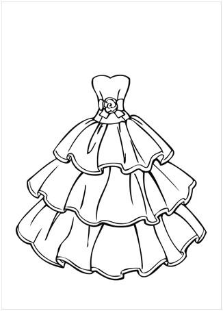 Tổng Hợp Các Bức Tranh Tô Màu Váy Công Chúa đẹp Nhất Cho Bé
