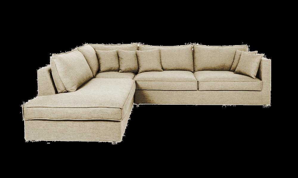Bộ sofa góc dễ dàng thay đổi vị trí giúp không gian rộng và thoáng hơn